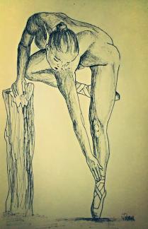 """Estudio para el cuadro """"El equilibrio en su apoyo"""""""